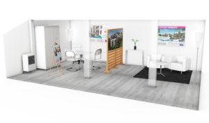 projet 3D espace de vente